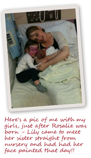 Kate Carter with her babies